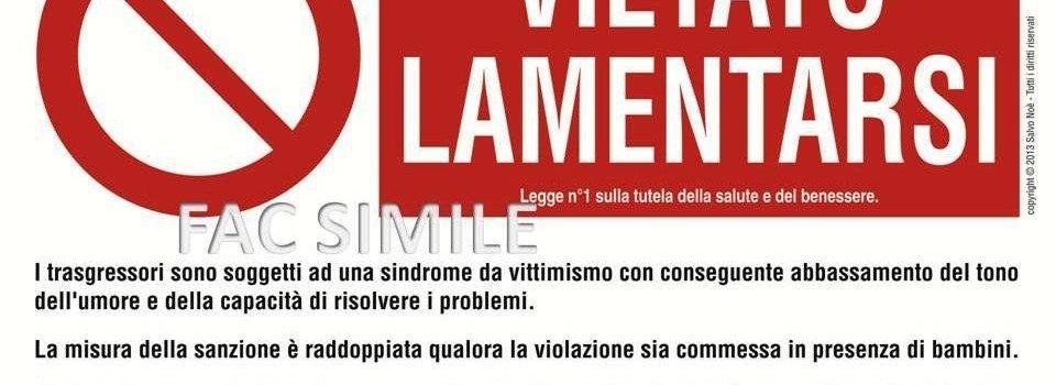FAC SIMILE LAMENTARSI