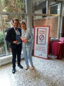 Con Mª Jesús Álava Reyes collega famosissima in Spagna